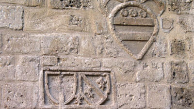 Venetian coats of arms on the wall of the Latin Archbishopric Palace, Nicosia, North Cyprus