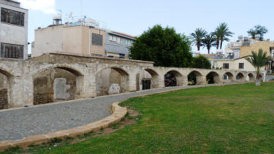 Part of the aqueduct supplying gthe walled city of Nicosia with water