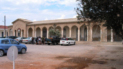 The upper cloisters at Apostolos Andreas Monastery