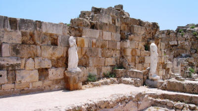 Statues at the ancient city of Salamis, near Famagusta, north cyprus