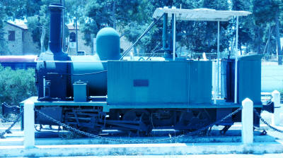 The first locomotive in Cyprus