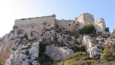 Kantara Castle, near Iskele, North cyprus