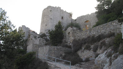 The entrance to Kantara Castle, near Iskele, North Cyprus