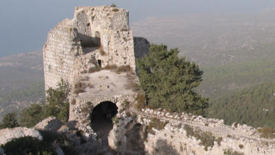 The North east tower of Kantara castle, Iskele, North Cyprus