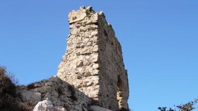 The top tower at Kantara castle, near Iskele, North Cyprus