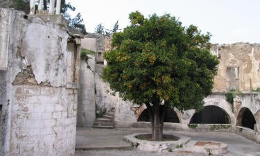 The courtyard at Sourp magar monastery