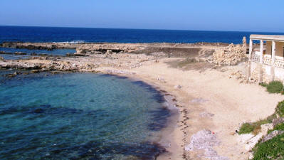 The beach at Ayios Philon, North Cyprus