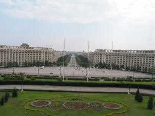 View from the Parliament building, Bucharest