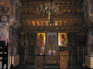 The iconostasis at Stravropoloes Church