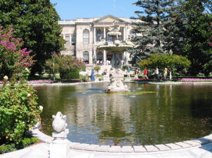 The gardens at the Dolmabaahce Palace, Istanbul