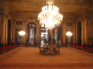 The interior of the Dolmabahce Palace, Istanbul