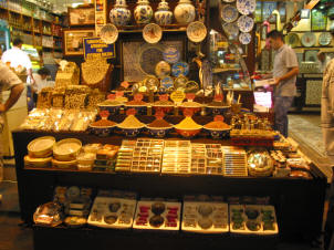 A stall in the Istanbul Spice market