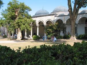 The courtyard at Topkapi Palace, Istanbul