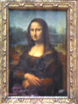 The Mona Lisa at the Louvre, Paris