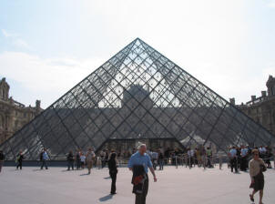 The pyramid at the Louvre, Paris