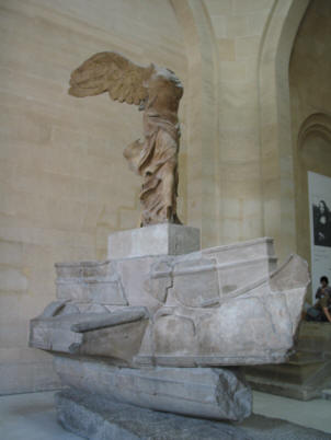 The Victory of Samothrace at the Louvre, Paris