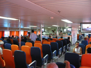 The catamaran interior