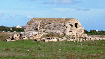 St Catherine's prison. Tomb 50 at the Royal Tombs, Salamis, near Famagusta, North Cyprus