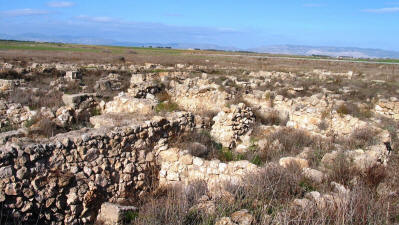 The ruins of Enkomi (Alasia) at Tuzla, near Famagusta, North Cyprus