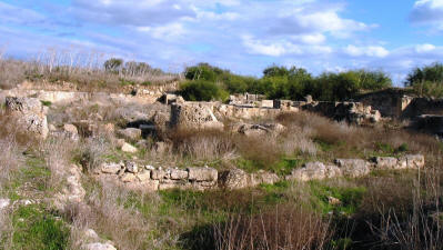 The temple of Zeus Salaminios at Salamis, near Famagusta, North Cyprus
